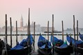 Gondolas in the calm of dawn - Venice