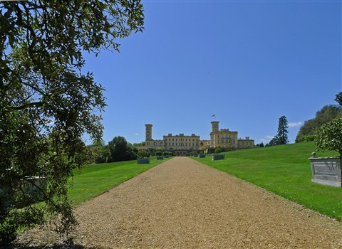 Distant rear view of Osborne House