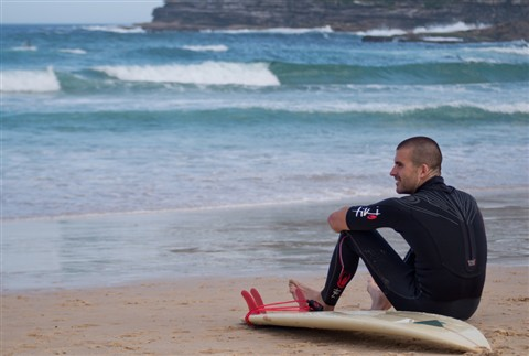 Bondi Surfer at Ease