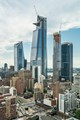 Hudson Yards is a mix of commercial and residential towers. The tallest building here is 30 Hudson Yards, an office tower.