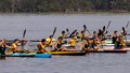 The start of the Juniors K2 (Two-person kayak) 1000 meter race at the 2017 U.S. National Sprint Championships.
