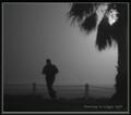 Running in a foggy night