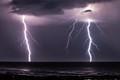 Summer lightning storm in Florida