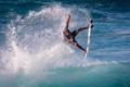 Surfer at Sunset Beach