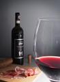 Italian wine and Parma ham