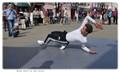 Break dance on the street