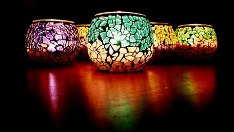 colourful votives widescreen