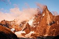 The Dru peaks, as seen from Chamonix-Mont Blanc