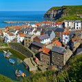 The rooftops of Staithes, North Yorkshire