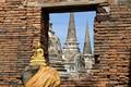 Golden Buda at Wat Phra Si Sanphet, Ayutthaya, Thailand