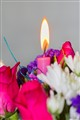 Candle over Flowers