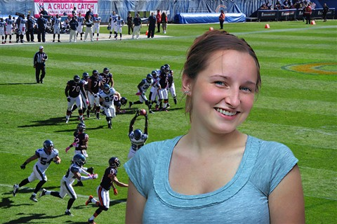 Leslie at Bears Game
