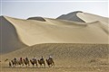 Silk Raod in Taklamakan desert, Western China