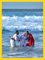 traditional healers performing a baptism near St Lucia, KwaZulu Natal, South Africa