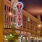 The Tivoli, in the Delmar Loop District, in University City, Missouri, USA - exterior at night 2