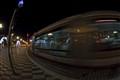 tramway by night