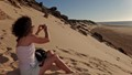 Climbing dunes in Dakhla Morocco