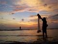 Cast net fisherman