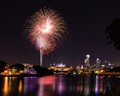 Fireworks over the Philadelphia Museum of Art and Schuylkill River