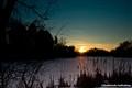 Sunset on Frozen lagoon