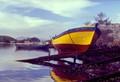 Boat on the bank of the Itajuru Canal
