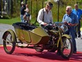 """1917 Harley-Davidson Model F w/ factory sidecar, awarded 2nd place at the Hemmings Concours d'Elegance, Lake George, NY September 2018.   Award presented by Wayne Carini, host of """"Chasing Classic Cars"""" and dean of car show judges in the US."""