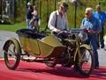 Wayne Carini and 1917 Harley-Davidson Model F w/ factory sidecar