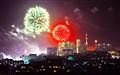 fireworks above pattaya city