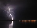Storm on a lake