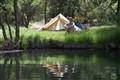 Camping at a lake