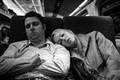 Sleeping Passengers on a NY to DC Amtrak