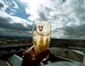 Ahh..... the best Guiness pint in the whole world.... at the Gravity Bar - Guiness plant in Dublin