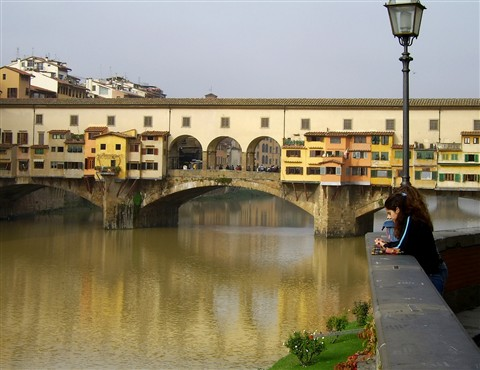 Old bridge in Florence