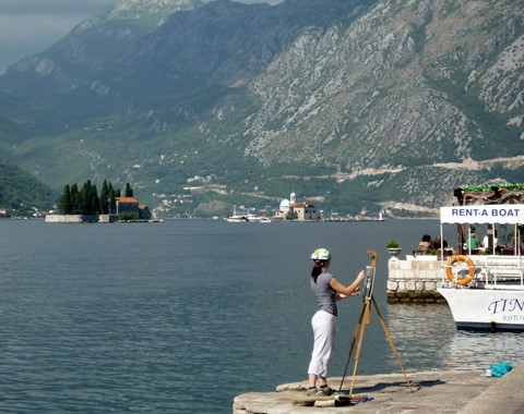 Paintress in Perast