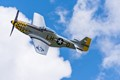 Air show at Findlay Airport, Findlay, Ohio, May 6, 2017.  Findlay is located on I-75 in northwest Ohio, USA.  Airplane is a P51 Mustang.