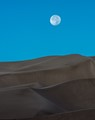Full moon over Great Sand Dunes National Park in Colorado