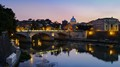 Vatican & the Tiber at sunset-Rome