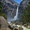 Lower Yosemite Falls, Yosemite, CA: Lower Yosemite Falls, Yosemite National Park. There were significant rain storms days before making the volume of water over the falls unusually large.