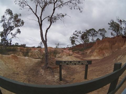 Pink Cliffs, Heathcote, Victoria. Pentax q + 03 Fisheye