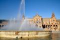 Rainbow over Plaza de Espana; Sevilla, Spain