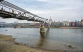 Millenium Foot Bridge over the Thames at low tide