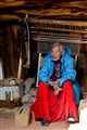 Suzy The Navajo Weaver with her loom