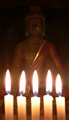 Candle and buddah