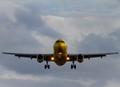 Spirit Airlines making final approach to McCarran International Airport