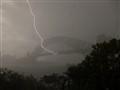 Lightning hitting Sydney Harbour Bridge