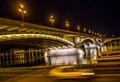 Under a bridge in Budapest