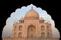 Taj Mahal through arch
