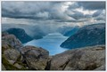 Rain over Lysefjord