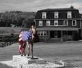 Patriotic Horse Statue