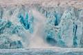 Calving glacier in Arctic Ocean